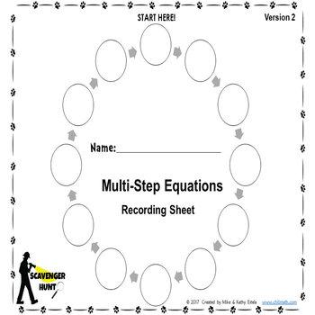Multi-Step Equations {Scavenger Hunt}