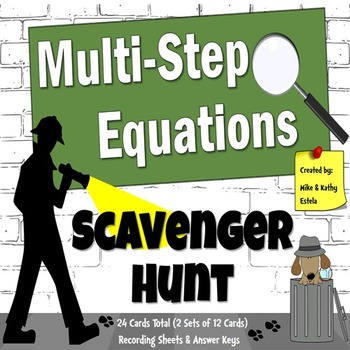 Multi-Step Equations {Scavenger Hunt}