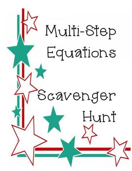 Multi-Step Equations Scavenger Hunt