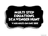 Multi-Step Equations Scavenger Hunt (Variables on One Side)