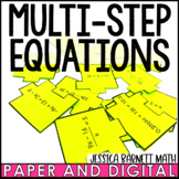 Multi-Step Equations Scramble Activity