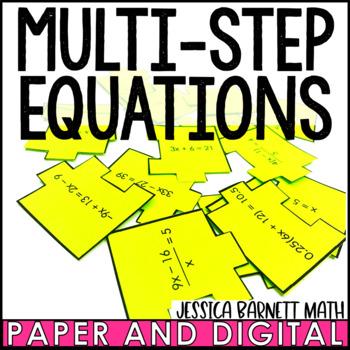 Multi-Step Equations Scramble Activity