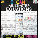 7th Grade Multi Step Equations Game