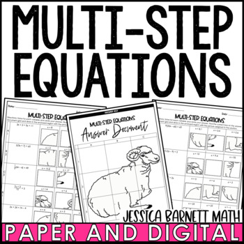 Multi-Step Equations Solve and Sketch Activity