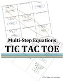 Multi-Step Equations Tic Tac Toe