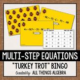 Multi-Step Equations Thanksgiving Bingo