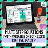 Multi Step Equations With Variables on Both Sides Notes for Google Slides™