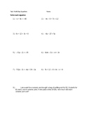Multi Step Equations With Variables on Both Sides W/ Word