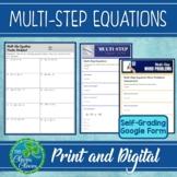 Multi-Step Equations Worksheets
