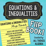 Multi-Step Equations and Inequalities Flip Book