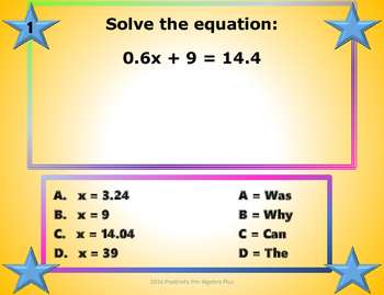 Multi-Step Equations and Inequalities Walk-About Activity