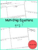 Multi-Step Equations quiz