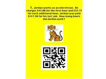 Multi-Step Equations using QR Codes
