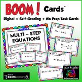 Multi Step Equations with BOOM Cards Digital 1:1 Algebra