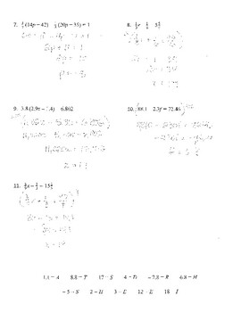 Multi step equations with fractions and decimals homework help
