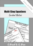Multi-Step Equations (with Parenthesis)