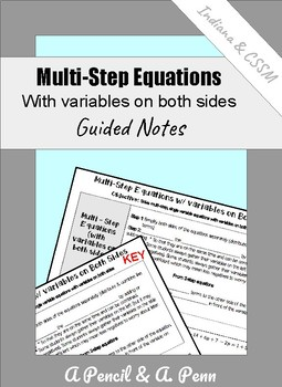 Multi-Step Equations with Variables on Both Sides