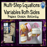 Multi Step Equations with Variables on Both Sides Paper Chain Activity