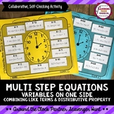 Multi Step Equations with Variables on One Side  Partner S