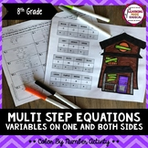 Multi Step Equations Coloring Activity