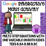 Equations with a Variable on Both Sides Google Ready! TEKS