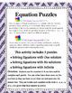 How Many Solutions? Multi-step Equation Tile Puzzles  8.EE.C.7a and b
