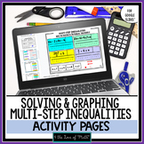 Multi-Step Inequalities Activity Pages Google Slides™