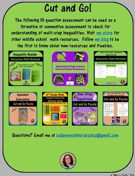 Multi-Step Inequalities Assessment