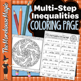 Multi-Step Inequalities Math Color By Number or Quiz