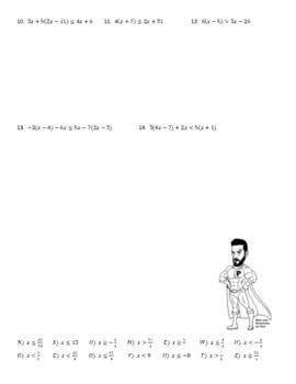 Multi Step Inequalities Joke Worksheet