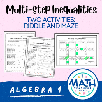 Multi-Step Inequalities: Line Puzzle Activity