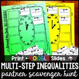 Multi-Step Inequalities Partner Scavenger Hunt Activity -