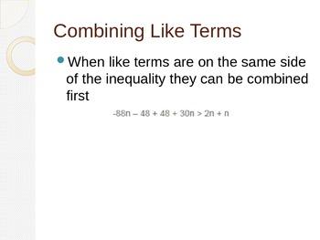 Multi Step Inequalities Powerpoint