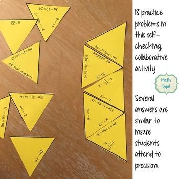 Solve Multi-Step Inequalities Puzzle