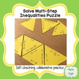 Solve Multi-Step Inequalities Puzzle