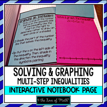 Multi-step Inequalities Teaching Resources | Teachers Pay Teachers