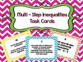 Multi-Step Inequalities Task Cards