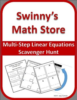 Multi Step Linear Equations Scavenger Hunt