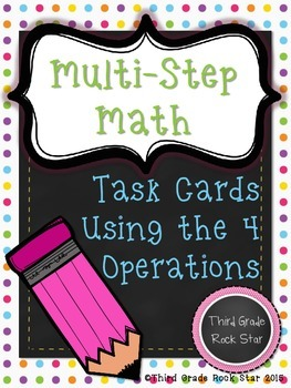 Multi-Step Math ~ Common Core Aligned Math Word Problems