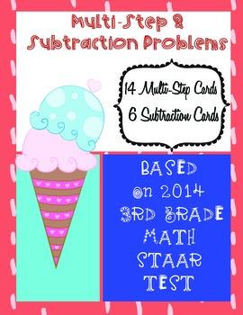 Multi-Step Math Problems Based on 2014 3rd Grade STAAR Test