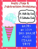 Multi-Step Math Problems Based on 2014 3rd Grade STAAR Test