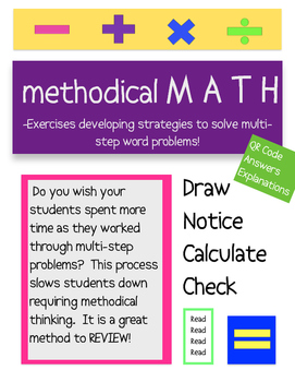 Multi-Step Word Prob Math STAAR REVIEW - Challanging - QR Code Answer
