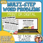 Math Word Problem Task Cards   Multi-Step Math Stories   Story Problems
