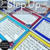 Multi Step Math Word Problems 3rd Grade | Task Cards | Rev