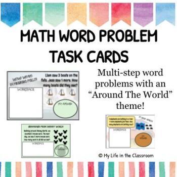 Multi-Step Math Word Problems {TASK CARDS!}