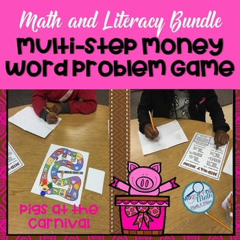 Multi-Step Money Problem Solving Math and Literacy Bundle