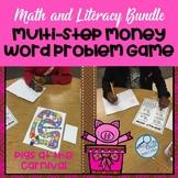 Multi-Step Money Problem Solving Math and Literacy Bundle