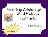 Multi-Step / Multi-Digit Word Problem Task Cards