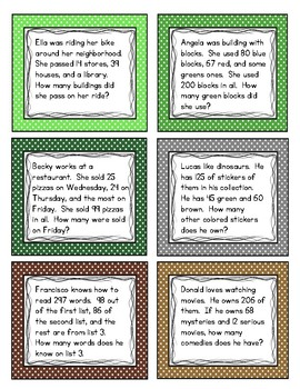 Multi-Step Multi-Digit Word Problems Adding and Subtracting