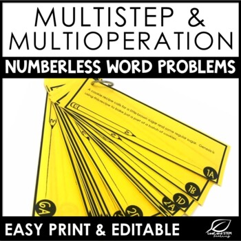 Multi-Step Multi-Operation Word Problems | Numberless Word Problems
